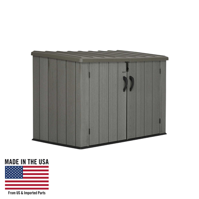 Lifetime 60212 Horizontal Outdoor Storage Shed 75 Cubic Foot Capacity   UsaBestDealZ.com