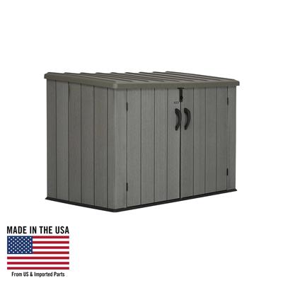 Lifetime 60212 Horizontal Outdoor Storage Shed 75 Cubic Foot Capacity Usabestdealz